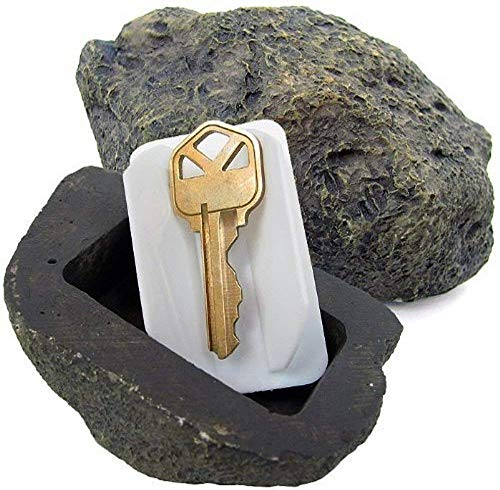 - WHMING Hide-a-Spare-Key Fake Rock - Looks & Feels like Real Stone - Safe for Outdoor Garden or Yard, Geocaching