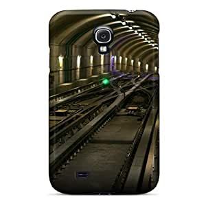 Jeffrehing Galaxy S4 Hybrid Case Cover Silicon Bumper Subway