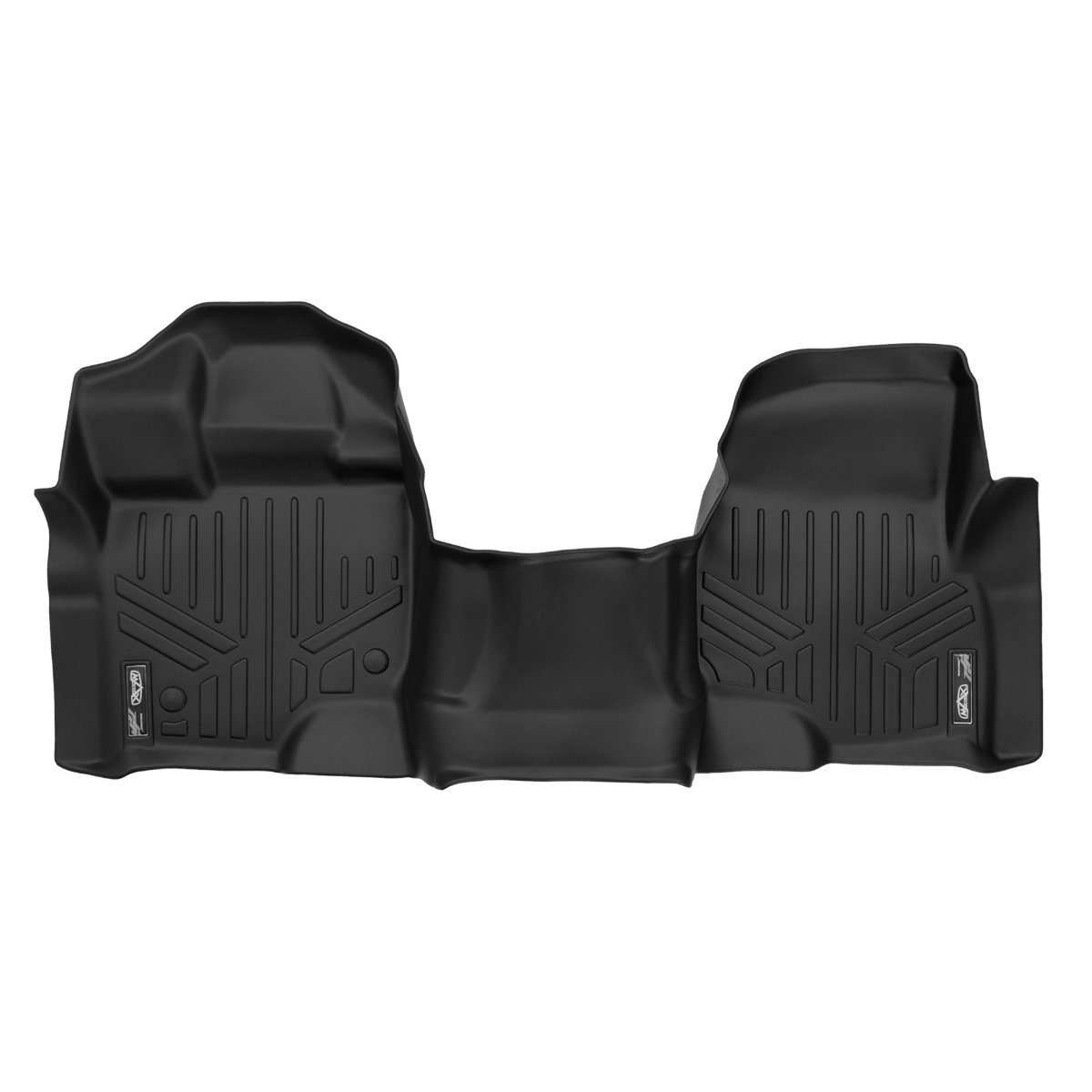 MAXFLOORMAT Floor Mats for Ford F-150 SuperCab/SuperCrew with Front Bench Seat (2015-2017) First Row One Piece (Black) MAXLINER A0212