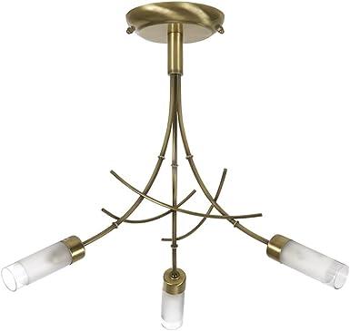 Imagen deOaks Lighting 2283/3 AB - Lámpara de techo, 3 bombillas G9 de 40 W, 44 x 35cm, color latón mate