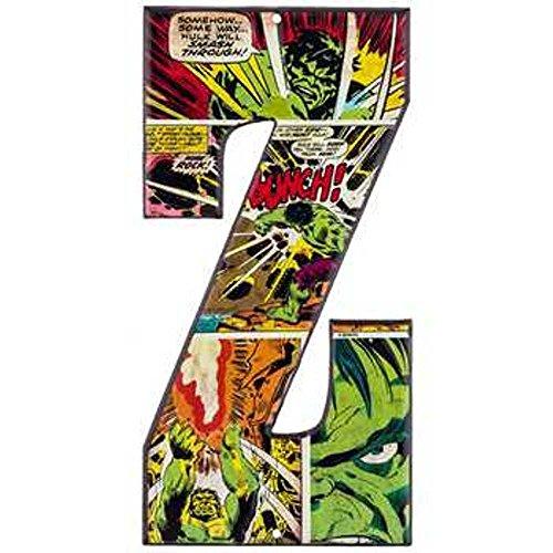 Embossed Letter (Superhero Marvel & DC Comics Embossed Tin Letter Sign (Z (The Hulk)))