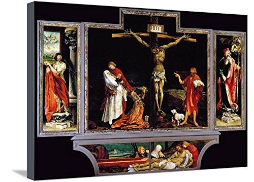 Art, Inc. The Isenheim Altar, Closed, circa 1515 by Matthias Grünewald, Stretched Canvas Print, 29x21 in