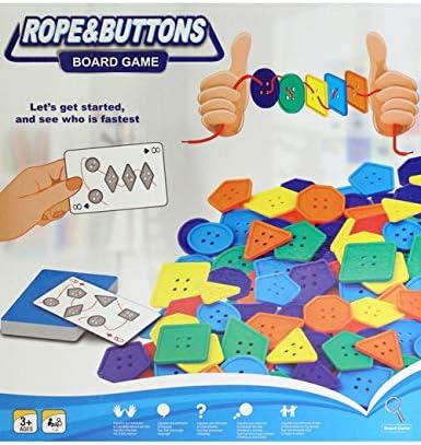 VHFIStj Juegos de Mesa Cuerda y Botones Juego de Mesa Niños Escritorio Juego de Rompecabezas Interactivo para Padres Juguete para niños: Amazon.es: Juguetes y juegos