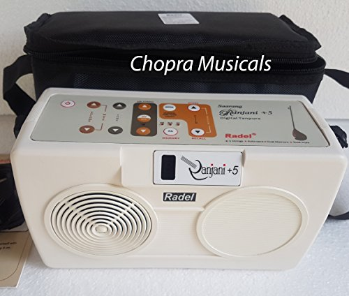 Electronic Tanpura - RADEL Saarang Ranjani Plus 5 Digital Tanpura, 5 Strings, Electronic Tambura Box, Instruction Manual, Bag, Power Cord