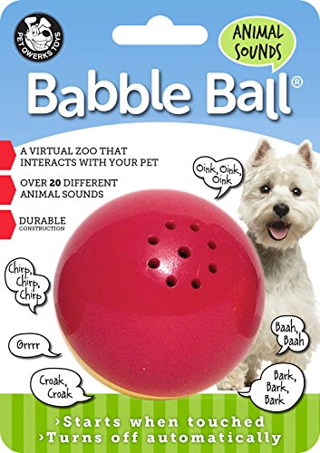 (Pet Qwerks-Animal Sounds Babble Ball- Red & Yellow Medium(Case of 72))