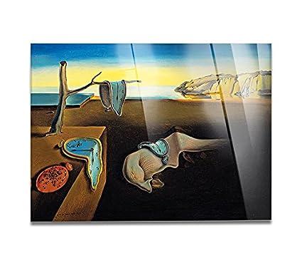 Giallo Bus - Cuadro Sobre Vidrio Acrílico Plexiglass - Salvador Dali - La Persistenza Della Memoria - 50X70Cm: Amazon.es: Hogar