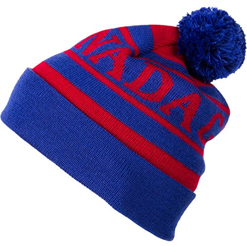 Canada Goose Youth Logo Toque, Blue/Red, One Size