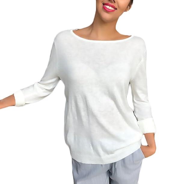 Tops Mujer Blusas De Encaje Elegantes Manga Larga Cuello Redondo Espalda Descubierta Joven Bastante Vintage Moda Hipster Casual Camisetas T-Shirt Tshirt ...