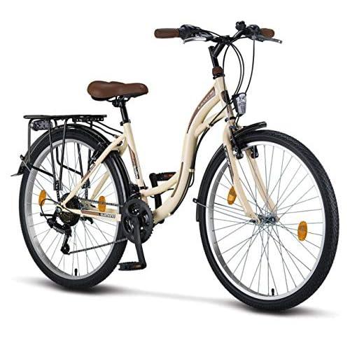 Licorne Bike Bicicleta de ciudad Stella Premium de 24,26 y 28 pulgadas, para niños, hombres y mujeres, cambio Shimano de 21 velocidades, bicicleta holandesa a buen precio