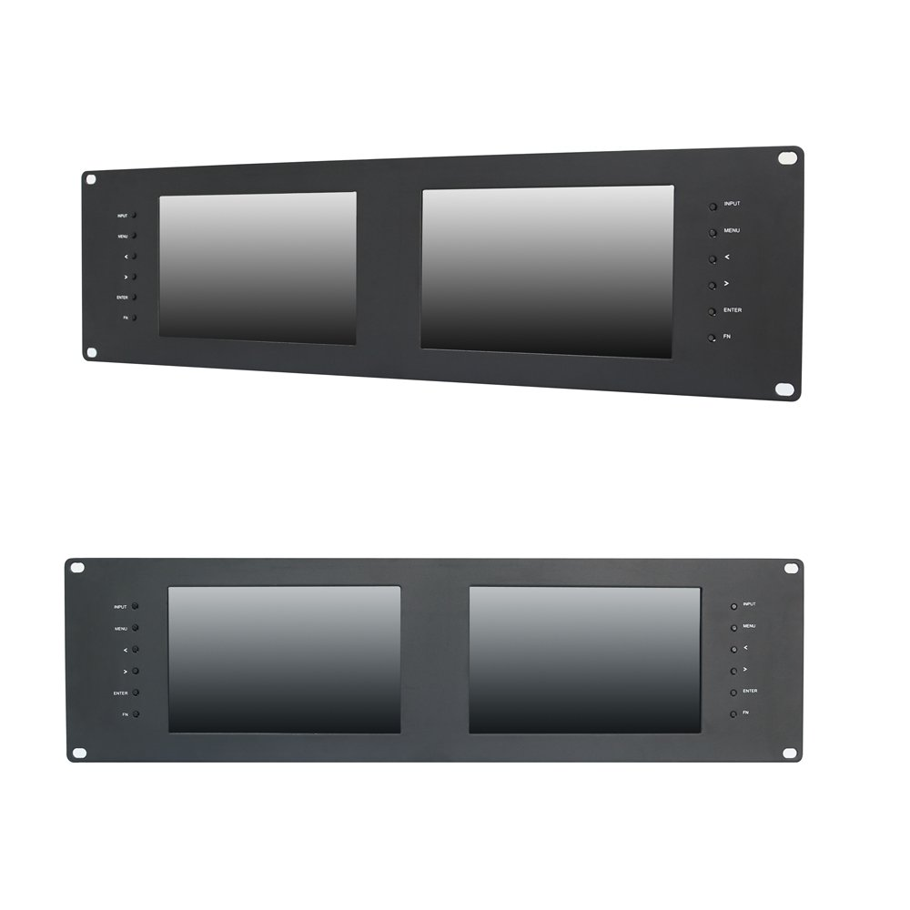 Lilliput Rm-7028s Dual 7'' 3ru Rack Monitors with Hdmi Ypbpr Tally Out 3g SDI by LILLIPUT (Image #2)