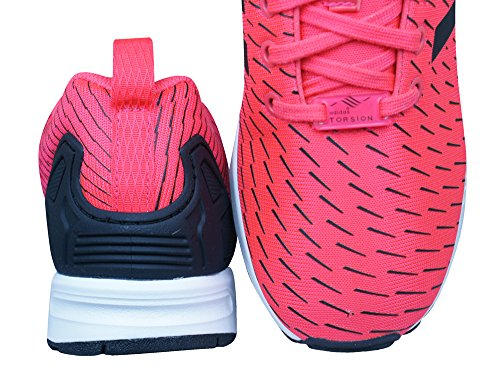 adidas ZX Flux Scarpe Low-Top, Donna shock red-shock red-core black (S75528)