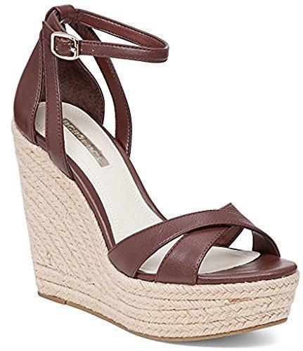 BCBG Women's Holly Wedge Platform Sandal (9.5 B(M) US) (Platforms Bcbg)