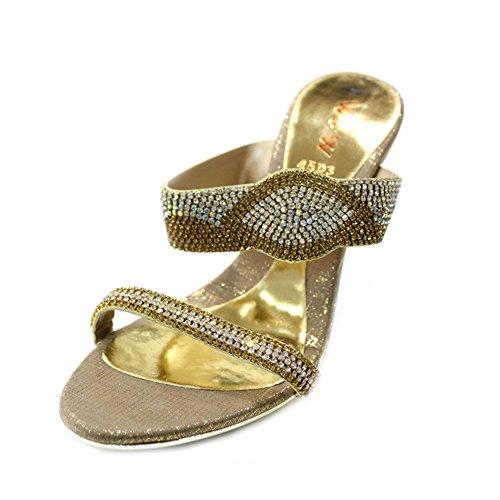Pour amp; Wear Doré Uk Sandales Walk Femme qpCx6w4Z