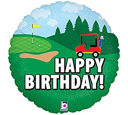 Amazon Burton Happy Birthday Golf Foil Mylar Balloon