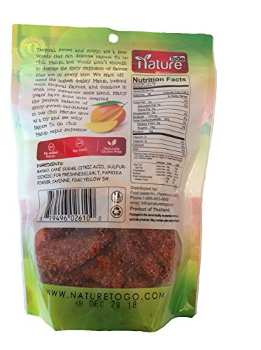 Gourmet Dried Chili Mango, Net Wt 16oz, Spicy, Real Fruit, Naturally Gluten Free by Nature To Go (Image #1)