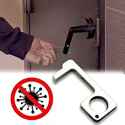 Zihaoo T/ür/öffner Zero Touch T/ür/öffner Schl/üssel Zero Touch Hubt/ür No-Touch Griff leicht vor Viren und Bakterien Pandemic Survival Tool