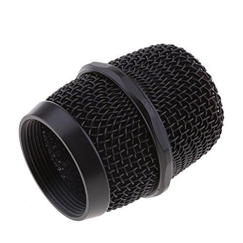 Homyl Replacement KTV Handheld Mic Microphone Ball Head Mesh Grill Dia 37mm Black
