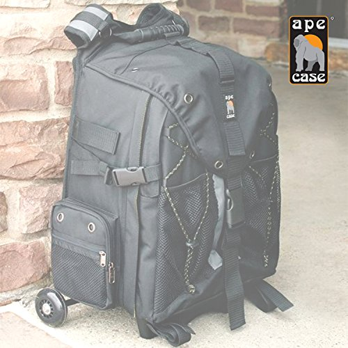 Ape Case, ACPRO4000, Backpack with wheels, Laptop compartment, Padded, Rain cover included, Adjustable straps, Camera backpack, Black (ACPRO4000) by Ape Case (Image #6)