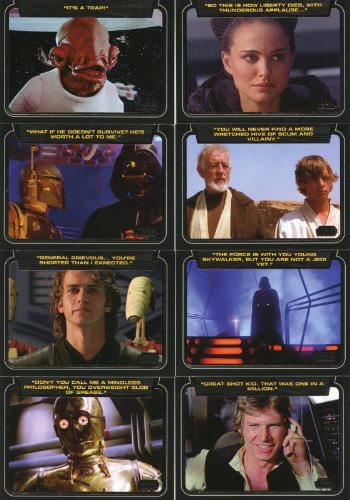 2013 Star Wars Galactic Files Series 2 Trading Cards Complete 10 Card Chase Set Classic Lines