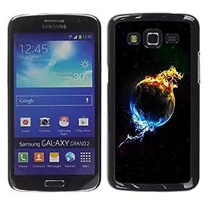 Be Good Phone Accessory // Dura Cáscara cubierta Protectora Caso Carcasa Funda de Protección para Samsung Galaxy Grand 2 SM-G7102 SM-G7105 // Plant In Flames & Ice