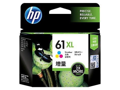 HP 61XL Tri-color High Yield Original Ink Cartridge (CH564WN) - Hp Deskjet 1000 Printer Cartridge
