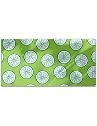 Lime Rectangle Tablecloth Large Dining Room Kitchen Woven Polyester Custom Print