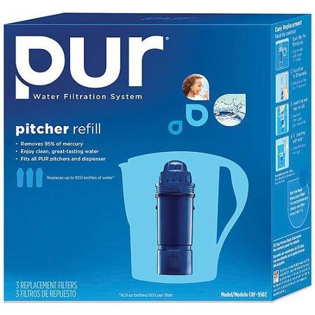 Pitcher Replacement Water Filter Premium Carbon filters, Fits any PUR Pitcher or Dispenser (Pur Water Filters Pitcher compare prices)