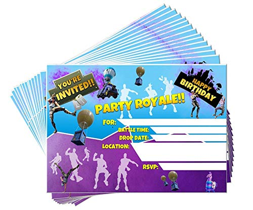 15 Video Game Birthday Party Invitations with Envelopes | Kids Birthday Invitations | Video Game Party Supplies | Birthday Invitations for Boys | Gamer Party Supplies | Birthday Party Invitations ()