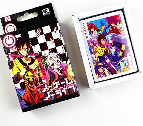 XiYon 54 Hojas/Juego Anime NO Juego NO Vida Tarjetas de póker Cosplay Juego de Mesa Tarjetas Postales Fans Regalo: Amazon.es: Hogar