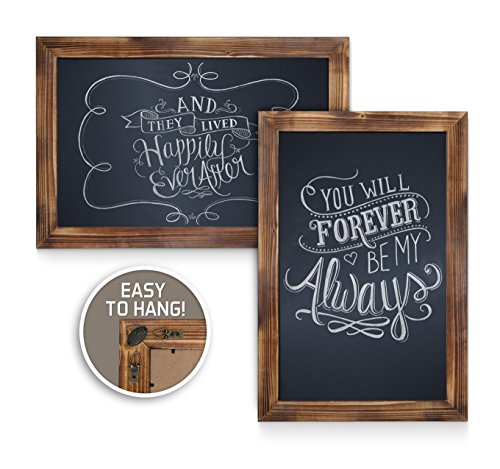 HBCY Creations Rustic Torched Wood Magnetic Wall Chalkboard, Extra Large Size 20'' x 30'', Framed Decorative Chalkboard - Great for Kitchen Decor, Weddings, Restaurant Menus and More! … (20'' x 30'') by HBCY Creations (Image #3)