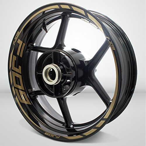 Gold Motorcycle Wheels - 2