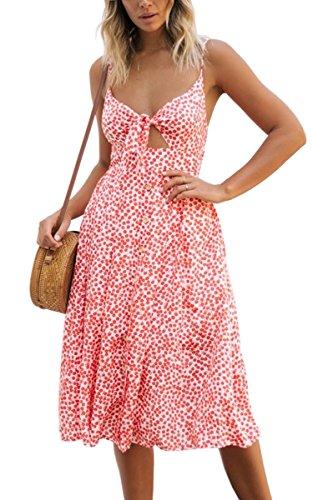 Robe Rosa Ecowish Femme Rosa blumen Robe Femme Ecowish pqCfnBfw