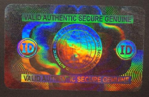 10 Hologram Secure Globe Self Stick ID Overlays, Thin .05 Mil ()