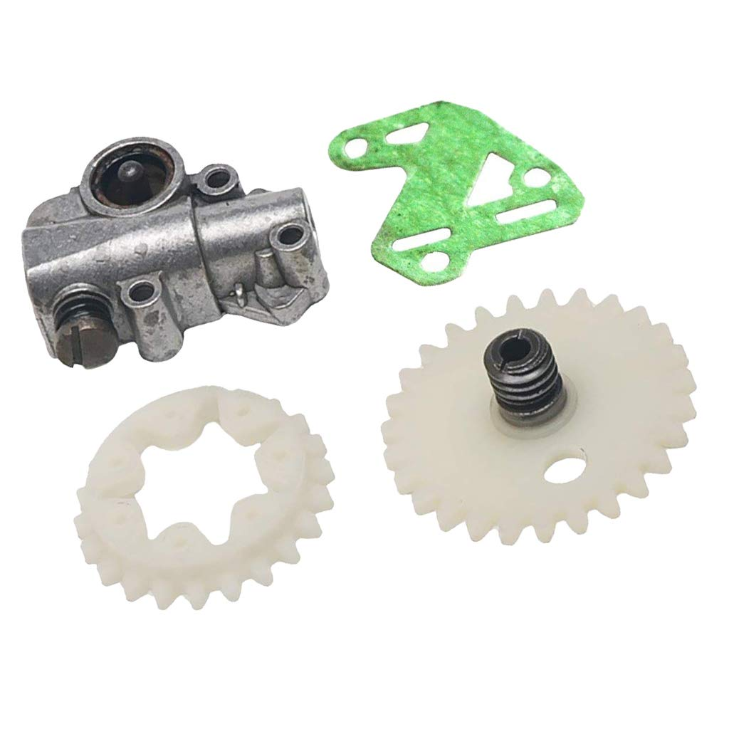 KESOTO Oil Pump Oiler Schneckengetriebe Stirnrad passend f/ür Stihl MS028 038 048 380 381 Kettens/äge