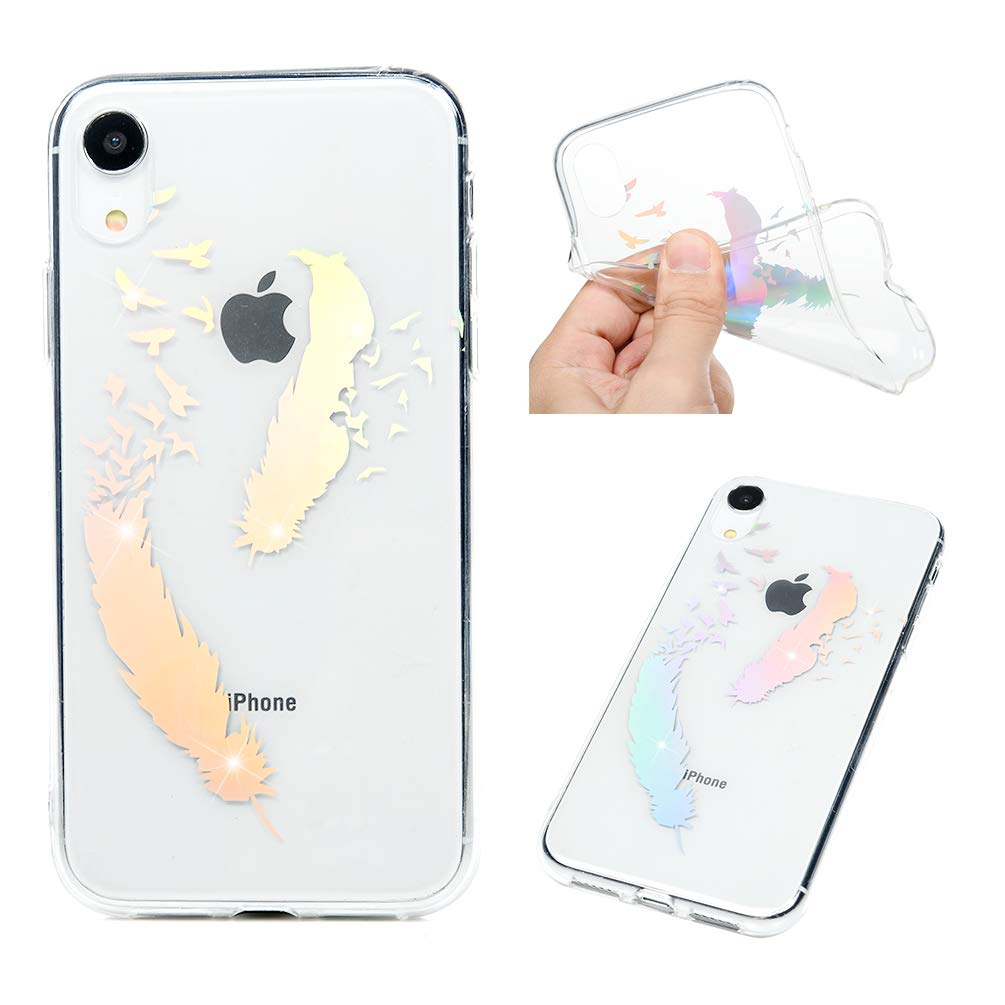 iPhone XR Case, iPhone XR Fancy Crystal Clear Cool Gradient Shiny IMD Paintings Shockproof Soft TPU Bumper Shell Shock Absorbtion Ultral Slim Lightweight Rubber Silicone Gel TPU Cover for iPhone XR