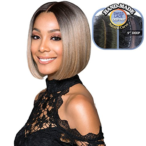 Bobbi Boss Synthetic Lace Front Wig MLF217 Silky Yaky Lyna Sleek (1B)