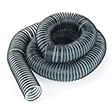 4-Inch Diameter x 10-Foot Length Light-Duty Semi-Clear Dust Collection Hose