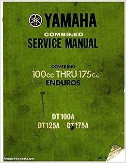 ulit-11614-37-00 1974 yamaha dt100 dt125 dt175 enduro motorcycle service  manual: by author: amazon.com: books  amazon.com