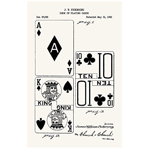 Inked and Screened SP_VIDG_87,095_TW_17_K Deck of Playing Cards Silk Screen Print, 11