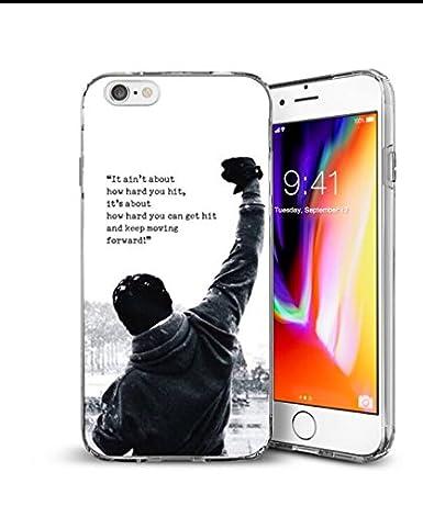 Amazon Com Rocky Balboa Motivacional Iphone Caso Blanco