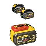 DEWALT DCB606-2 20/60V MAX FLEXVOLT 6.0 Ah Battery Dual Pack with DCB609 20V/60V MAX FLEXVOLT 9.0Ah Battery