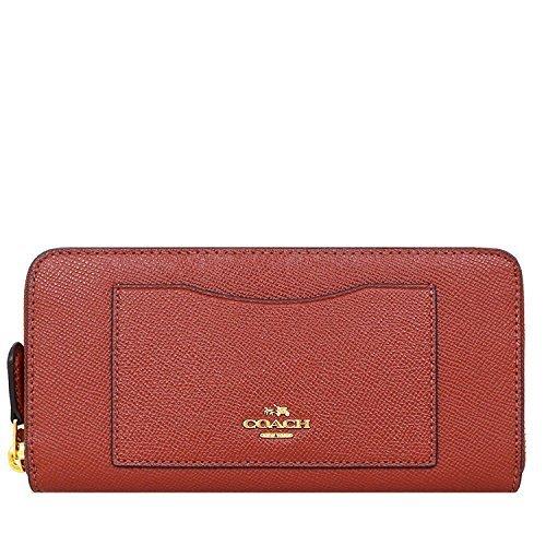 Coach Crossgrain Leather Accordian Zip Wallet, Terracotta 2