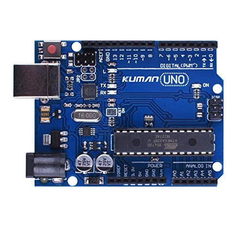 Kuman K53 UNO R3 Board ATmega328P with USB Cable for Arduino Compatible With UNO R3 Mega 2560 Nano Robot for Arduino IDE AVR MCU Learner K53