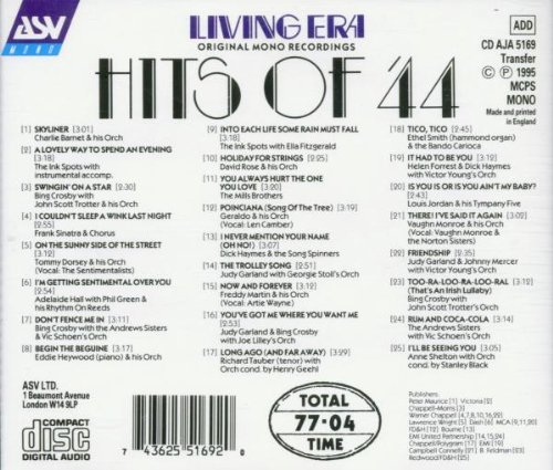 Hits of '44 by Asv Living Era