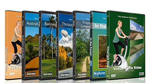 DVD Forest Combo Pack - Nature's Scenic Walks and Cycle Rides from Various Colorful Forest, Landscapes and National Parks - For Indoor Walking, Treadmill and Cycling Workouts (Combo Scenic)