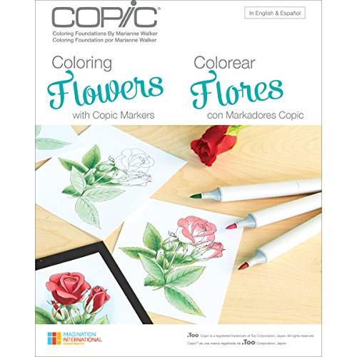Copic Marker Books, Coloring Flowers