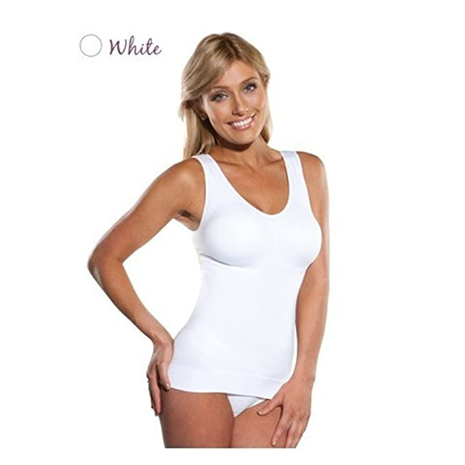 Yoli - Camiseta moldeadora - para mujer blanco blanco Small