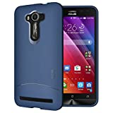 TUDIA Ultra Slim Full-Matte ARCH TPU Bumper Protective Case for Asus ZenFone 2 Laser 5.5 Inch (ZE550KL) [Not For ZE601KL 6.0 Inch] (Blue)