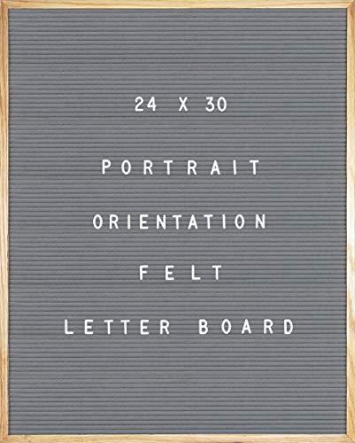 (Gray Felt Letter Board 24 X 30 Portrait Orientation with 692-Piece Set of 1