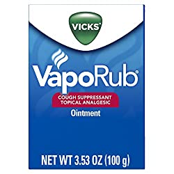 Vicks Vaporub Soothing Chest Rub Cough Suppressant Ointment, 3.53 Oz